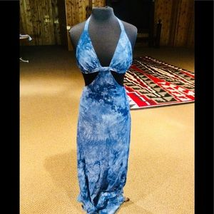 Dresses & Skirts - Gorgeous Lapis Blue Summer Halter Top Maxi Dress